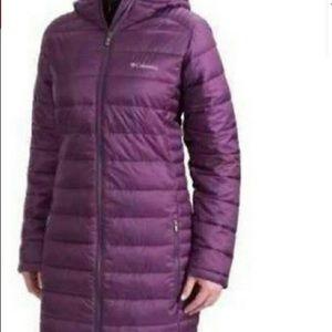 Columbia omni heat sz s puffer jacket in purple